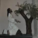 Escultura Cristo en el huerto de los olivos